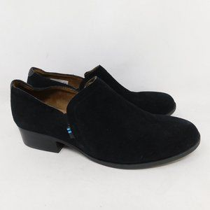 TOMS Low Ankle Booties Black Suede Size 10
